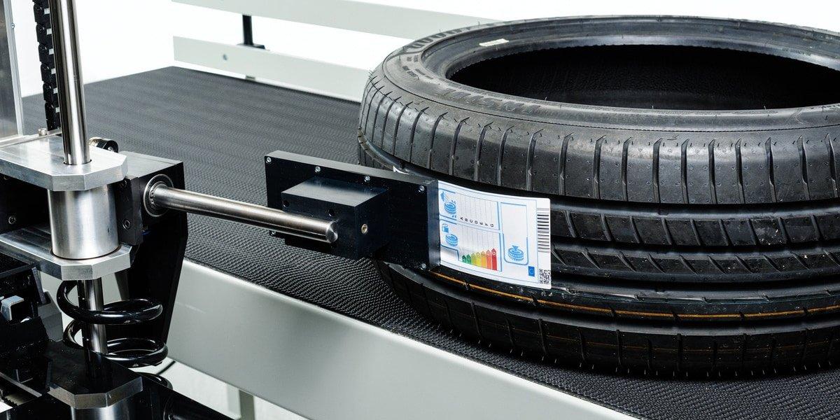 Automotive Label - Tire Label Applied