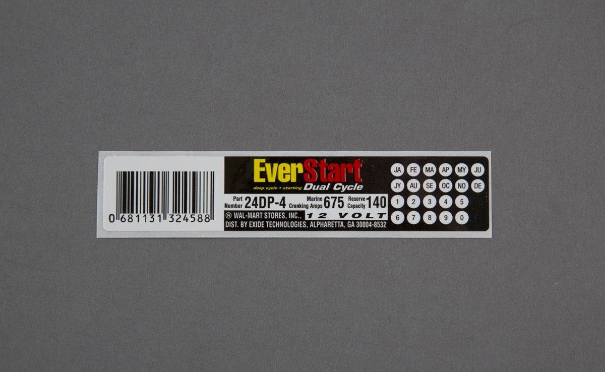 Automotive Label - Battery Label