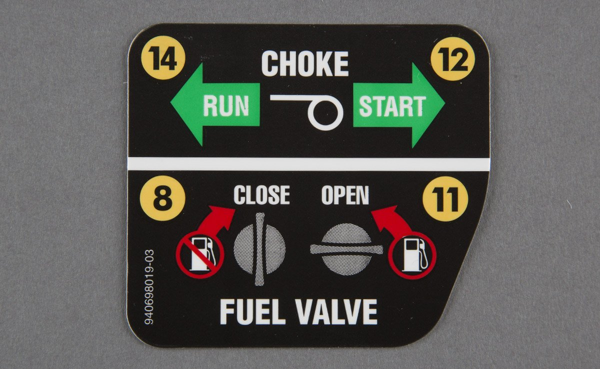 Fuel Choke Label