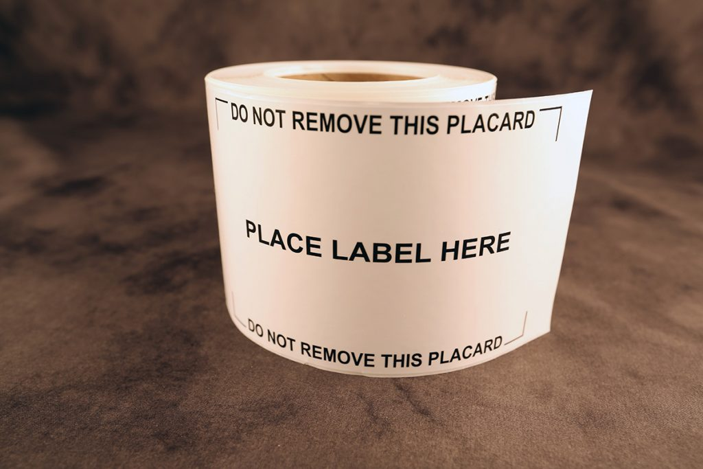 Placard Label